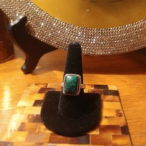 💍Handmade Turquoise and Sterling ring size 9